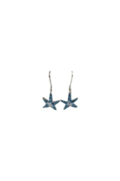 Presco Crystal Starfish Earrings - Alternate List Image
