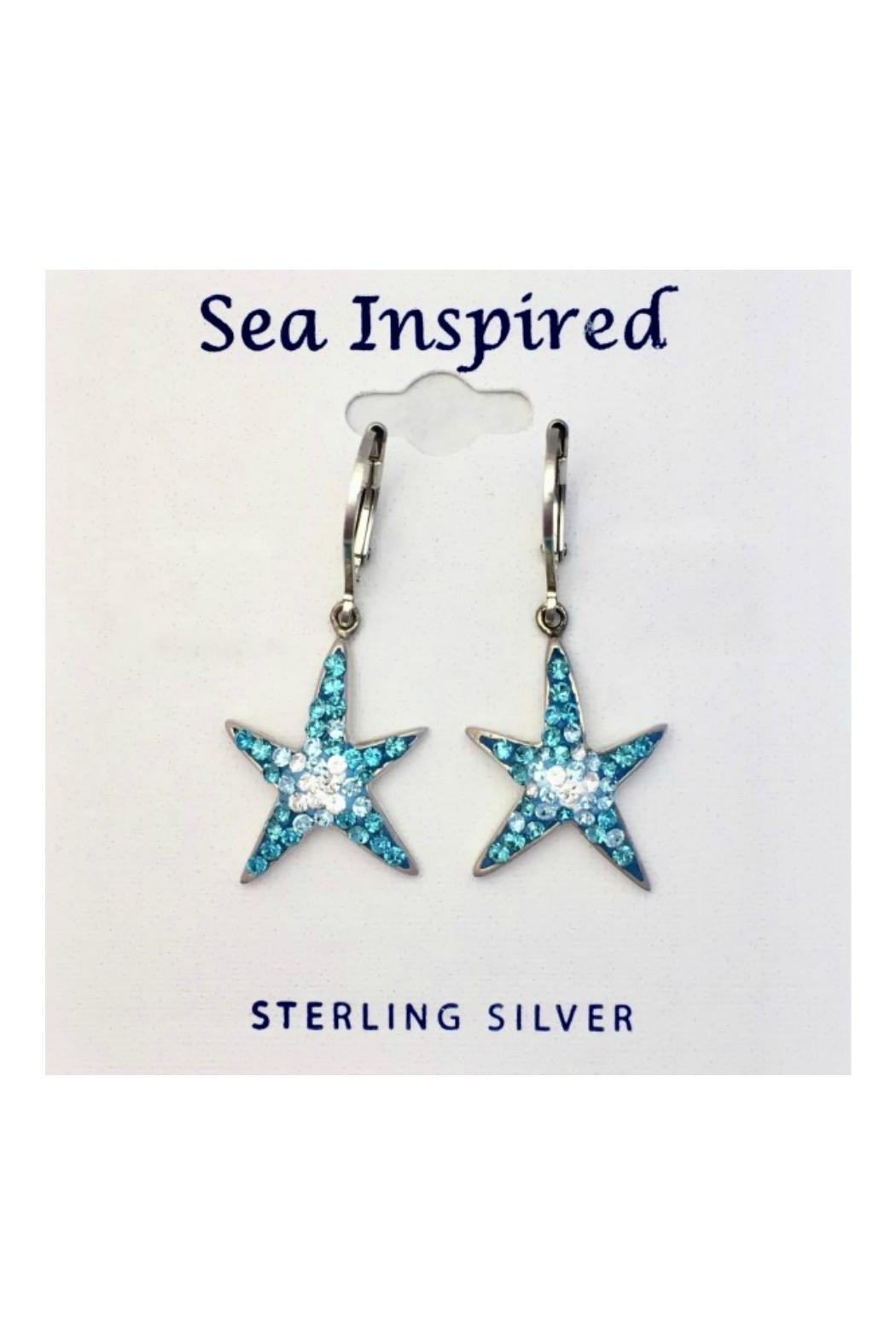 Presco Crystal Starfish Earrings - Front Cropped Image