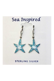 Presco Crystal Starfish Earrings - Product Mini Image