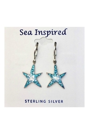 Presco Crystal Starfish Earrings - Front cropped