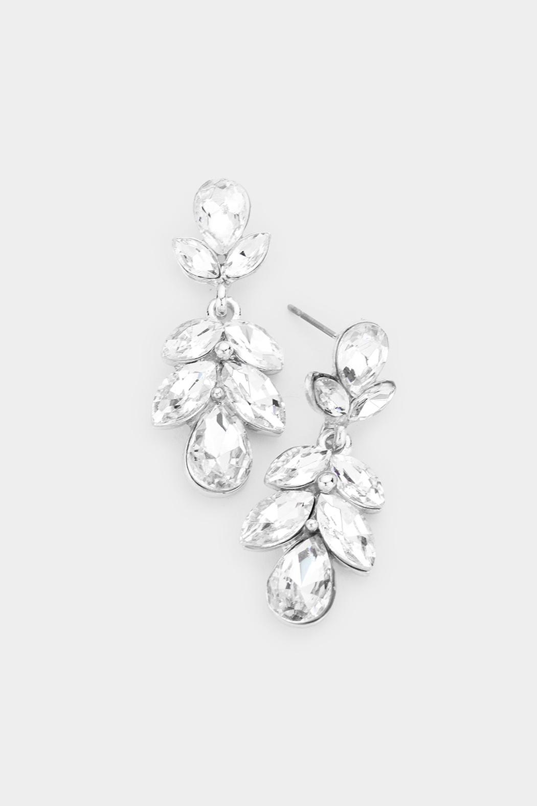 Wild Lilies Jewelry  Crystal Statement Earrings - Main Image