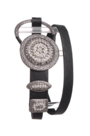 Kamberley Group Crystal Studded Circle Buckle Belt - Product Mini Image