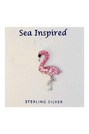 Presco Crystal Swarovski Pink Flamingo Large Necklace - Product Mini Image
