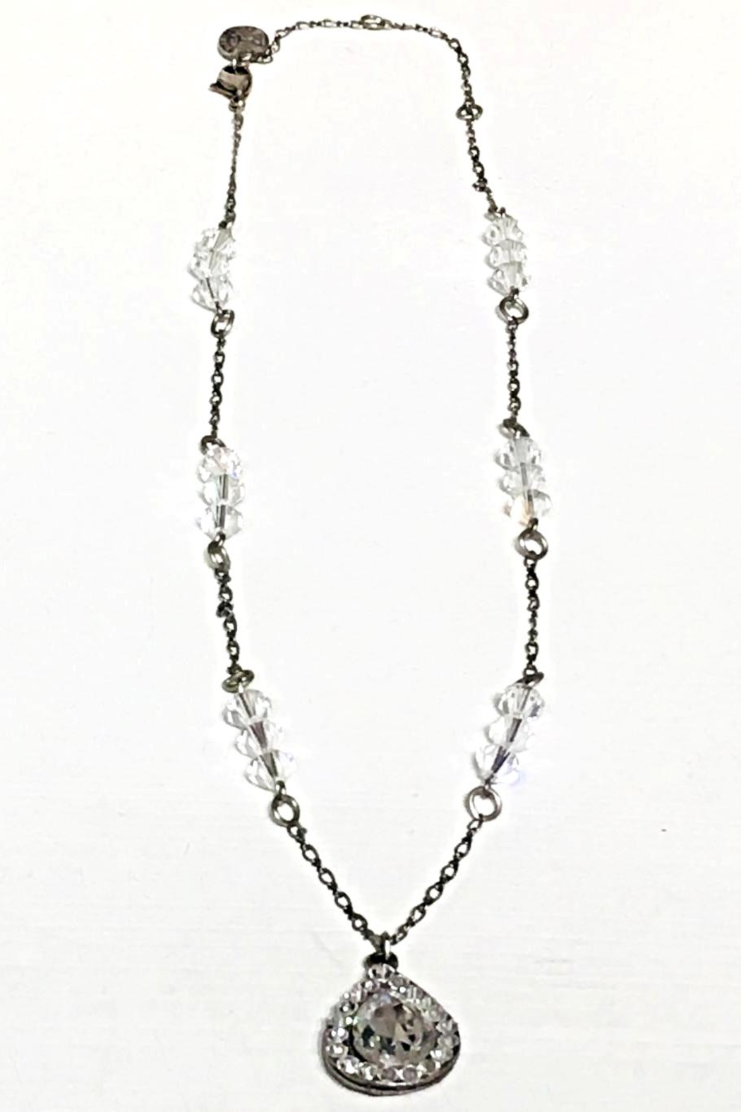 Anne Koplik Crystal Teardrop Necklace - Front Cropped Image