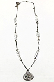 Anne Koplik Crystal Teardrop Necklace - Front cropped