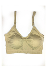 HaZe Apparel (fka Luxe Junkie) Crystal Thin Strap Padded Bra - Front cropped