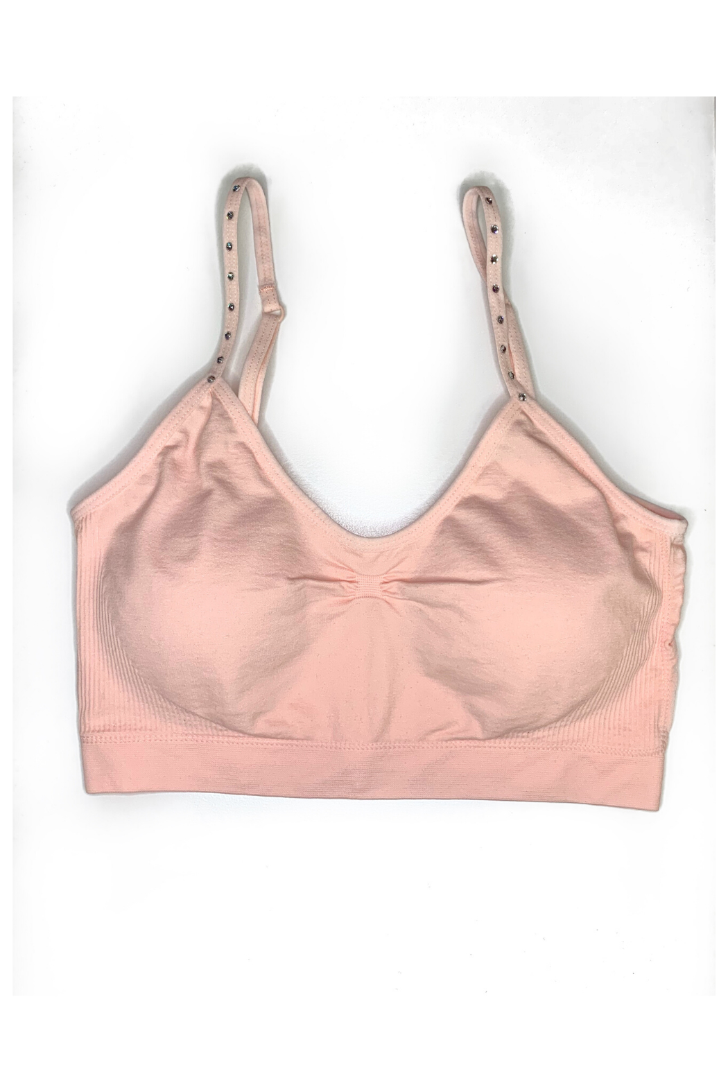 HaZe Apparel (fka Luxe Junkie) Crystal Thin Strap Padded Bra - Front Cropped Image