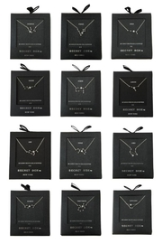 Secret Box Crystal Zodiac Constellation Necklace - Product Mini Image