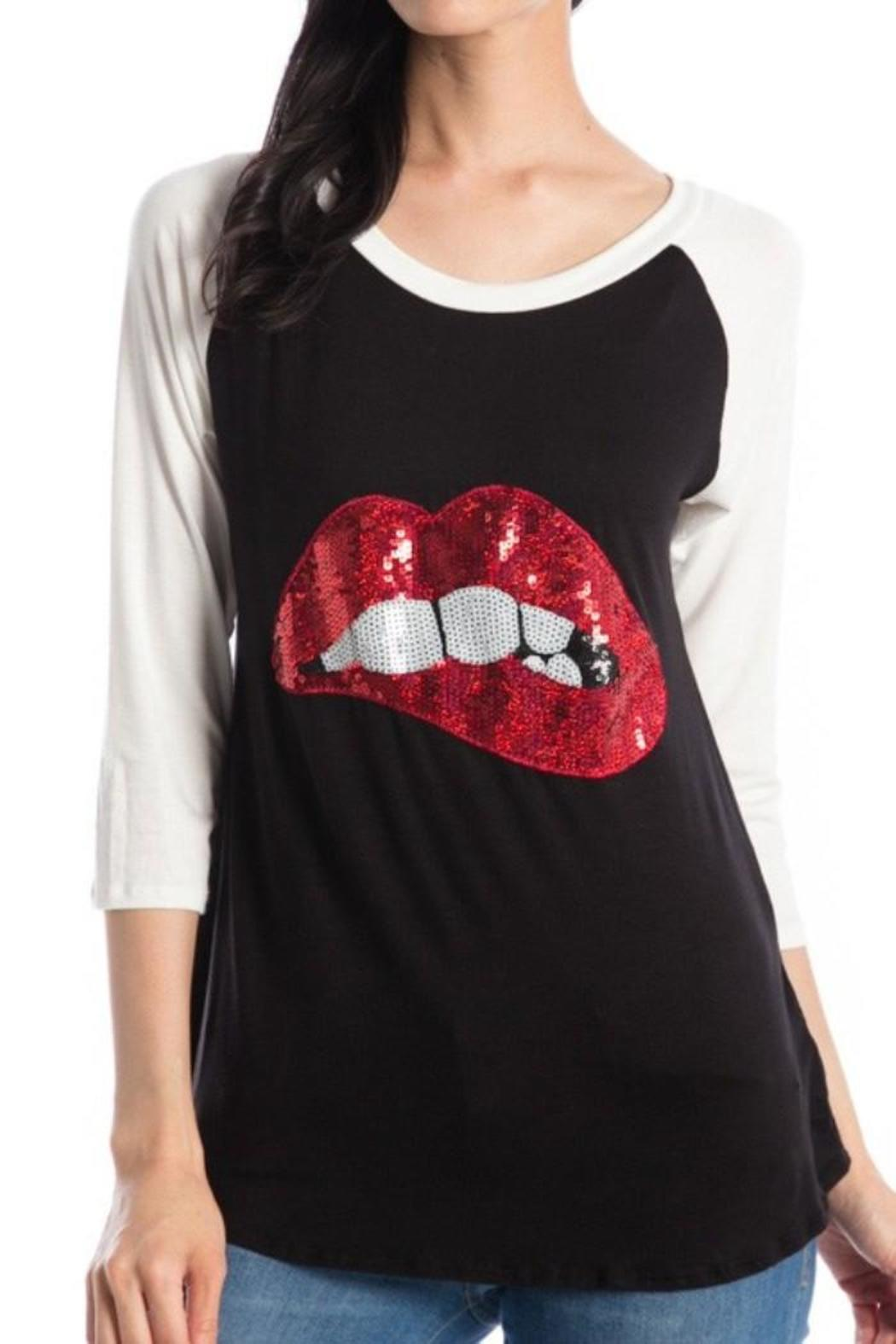 Crystal Art Designs Sequin Lips Shirt From New Jersey