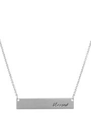 Crystal Avenue Blessed Name Plate Necklace - Front full body