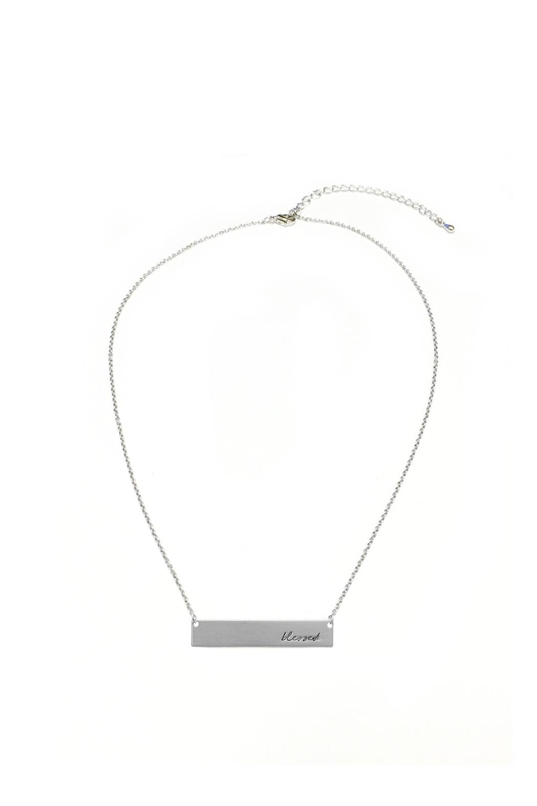 Crystal Avenue Blessed Name Plate Necklace - Main Image