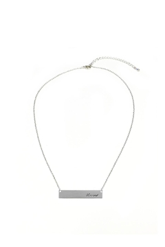 Crystal Avenue Blessed Name Plate Necklace - Product List Image