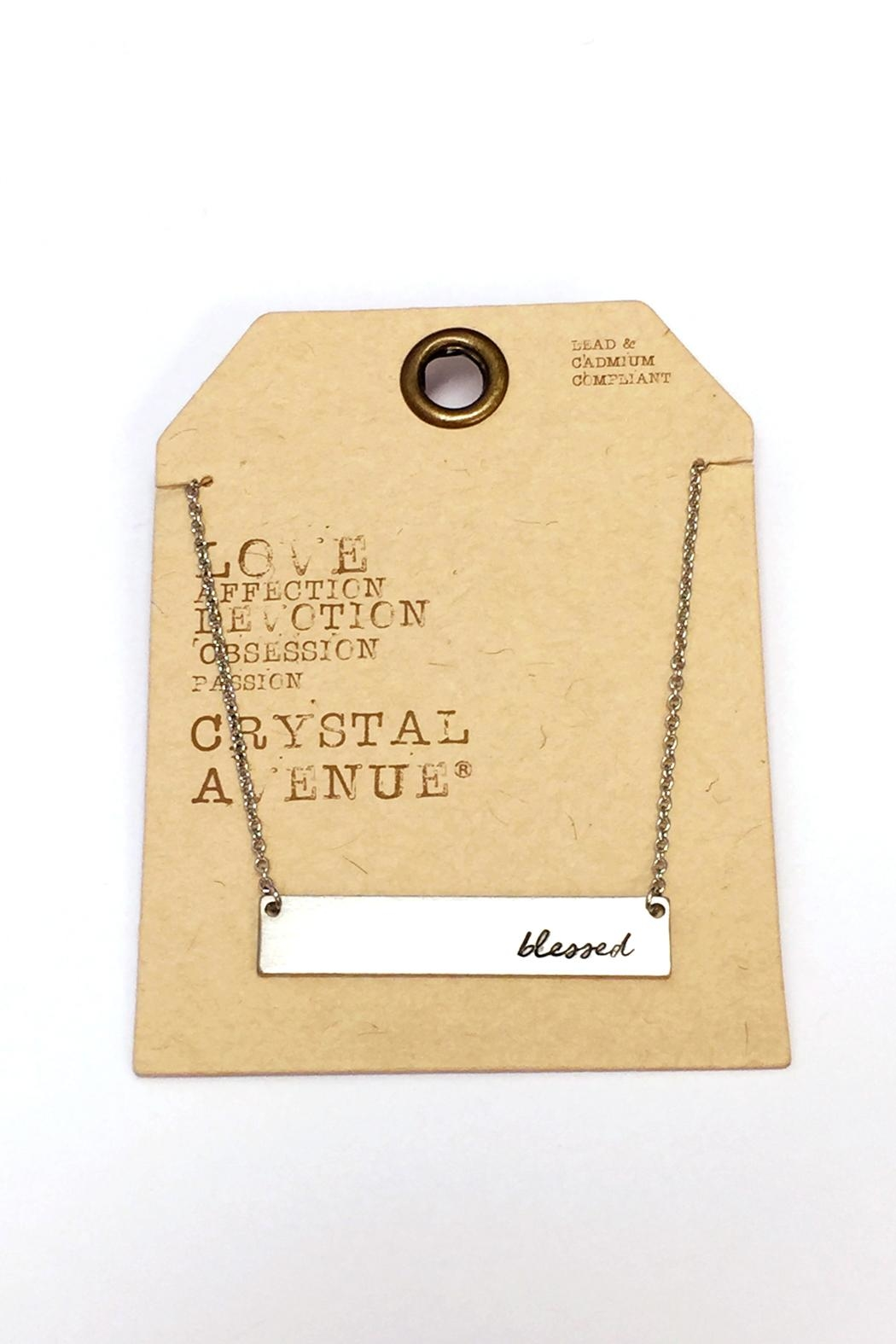 Crystal Avenue Blessed Name Plate Necklace - Back Cropped Image