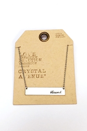 Crystal Avenue Blessed Name Plate Necklace - Back cropped