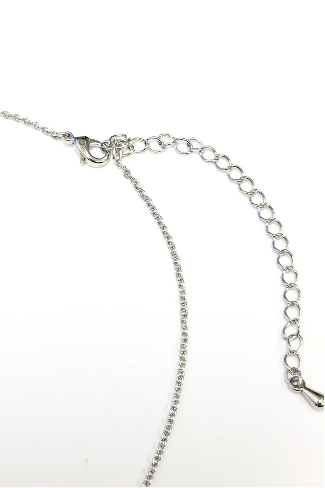 Crystal Avenue Blessed Name Plate Necklace - Side Cropped Image
