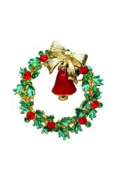 Crystal Avenue Christmas Wreath Pin - Product Mini Image