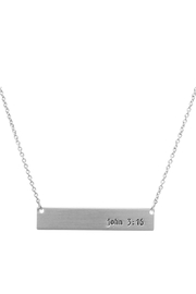 Crystal Avenue John 3:16 Necklace - Front full body