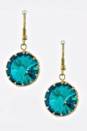 Crystal Avenue Turquoise Dangle Earrings - Front cropped