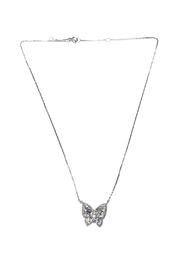 Lets Accessorize Crystalized Butterfly Necklace - Product Mini Image