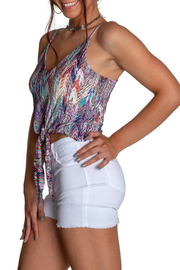 Viereck Cub Keyhole Banded Tank Top - Front full body