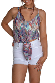 Viereck Cub Keyhole Banded Tank Top - Front cropped