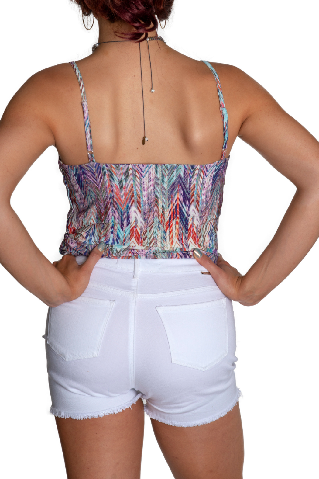 Viereck Cub Keyhole Banded Tank Top - Side Cropped Image