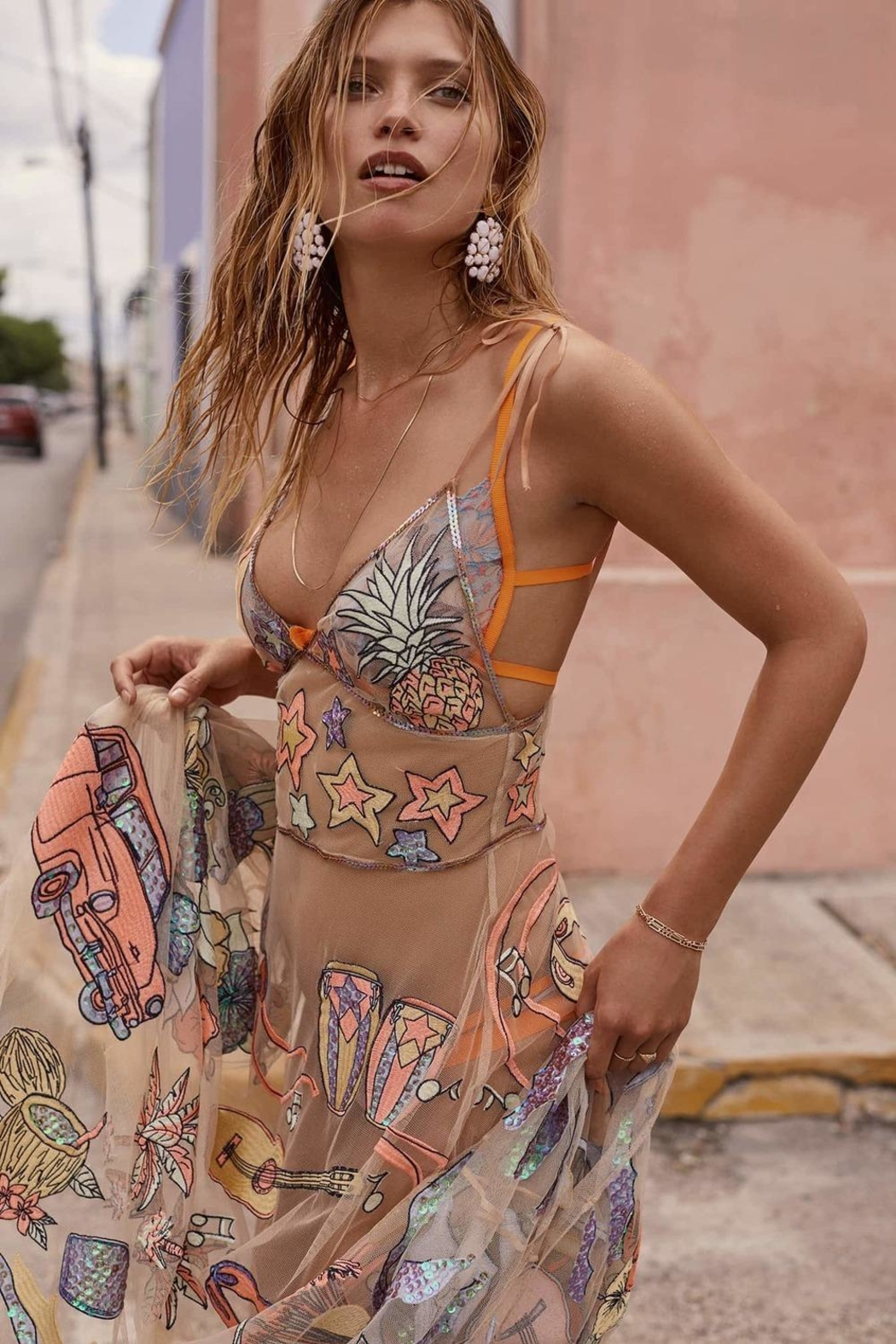 FOR LOVE & LEMONS Cuba Maxi Dress - Front Full Image