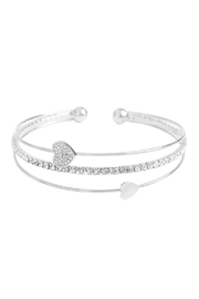 Riah Fashion Cubic-Zirconia Heart Bracelet - Product Mini Image
