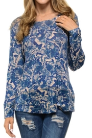 Cubism Abstract Blue Sweater - Front cropped