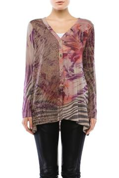 Cubism Abstract Cheetah Cardigan - Product List Image