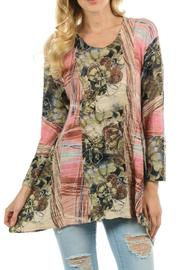 Cubism Abstract Floral Tunic - Product Mini Image