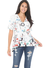 Cubism Abstract Knit Top - Front cropped
