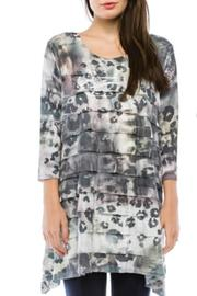 Cubism Abstract Ruffle Tunic - Product Mini Image