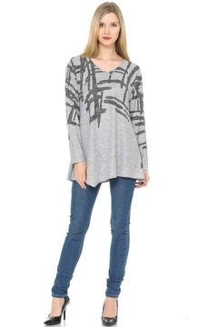 Cubism Asymmetrical V-Neck Sweater - Product List Image