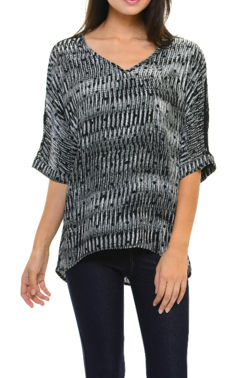 Cubism Black Boxy Top - Side Cropped Image
