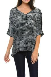 Cubism Black Boxy Top - Side cropped