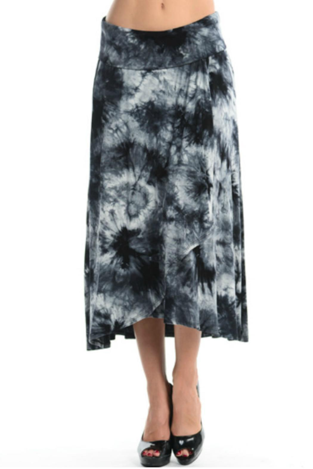 38839ac6d7 Cubism Black/white Tie-Dye Skirt from Cambria by New Moon — Shoptiques