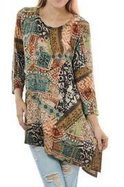 Cubism Colorful Asymmetrical Top - Product Mini Image