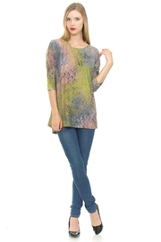 Cubism Colorful Button-Back Top - Product Mini Image