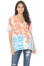 Cubism Colorful Knit Top - Product Mini Image