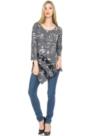 Cubism Contrast Asymmetrical Sweater - Product Mini Image