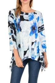 Cubism Floral Knit Top - Front cropped