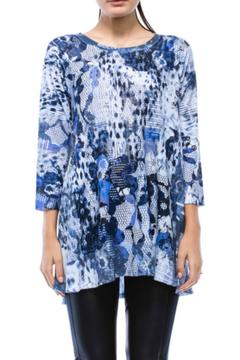 Cubism Indigo Floral Top - Alternate List Image