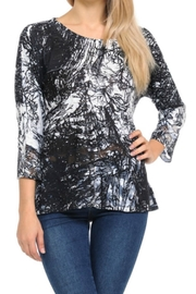 Cubism Knit Flare Top - Product Mini Image