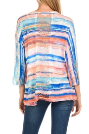 Cubism Lace Trim Top - Front full body
