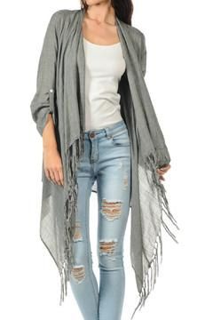 Cubism Long Fringe Cardigan - Alternate List Image