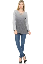 Cubism Ombre Criss-Cross Sweater - Product Mini Image