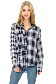 Cubism Plaid Snap-Up Shirt - Product Mini Image
