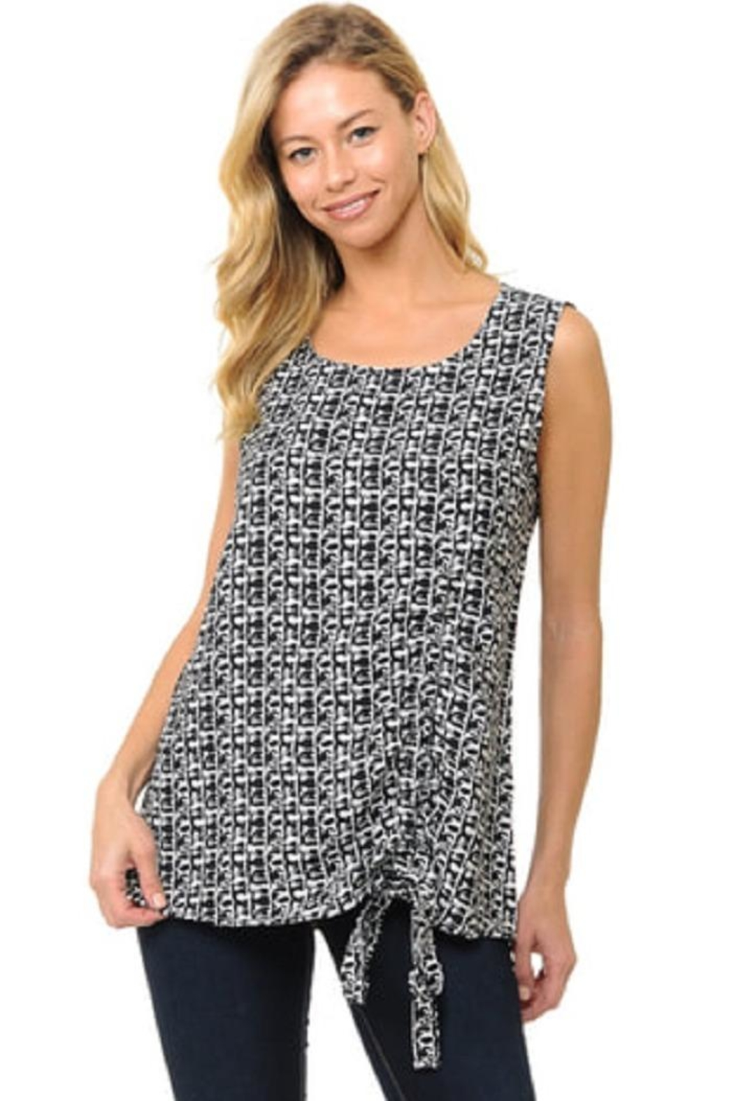 Cubism Ruched Sleeveless Top - Main Image