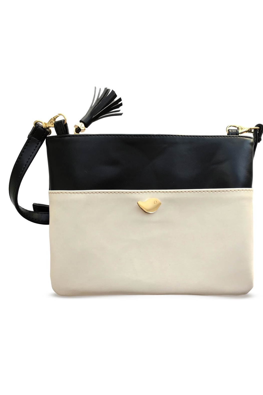Cuca y Paloma Dahlia Oyster Crossbody - Front Cropped Image